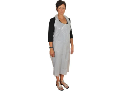 White Single use apron