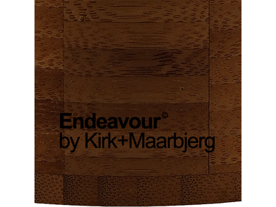 Knivblok Endeavour Sort Bambus