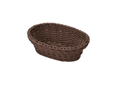 Brødkurv oval 25x17x8,5 cm, brun