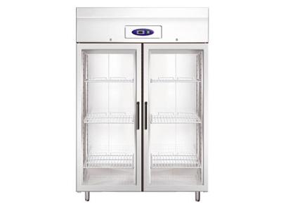 Kylskåp 1400 liter 2 glasdörrar