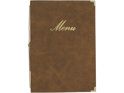 Beige Menu cover A5