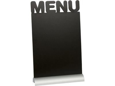 Tavle A4 m/aluminium fod bord, menu + 1