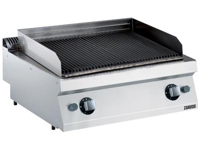 Grill lavasten m/støbejernsrist gas 700 - 800x700x250 mm