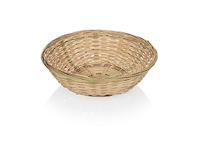 Brødkurv rund bambus Ø 22,5 cm.