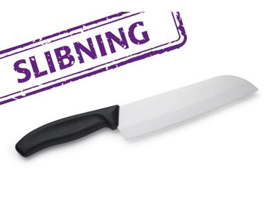 Keramisk knive slebet