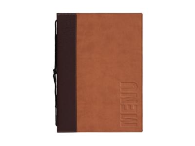 Menukort A4 brun 1 opslag/4 side Trendy
