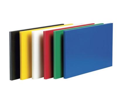 Skærebræt polyd 50x30x2 m.dupper - Flere Farver