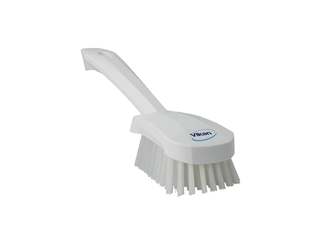 Vaskebørste kort skaft, hvid