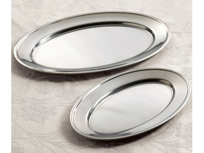 Fad ovalt rustfrit 37 x 23 cm
