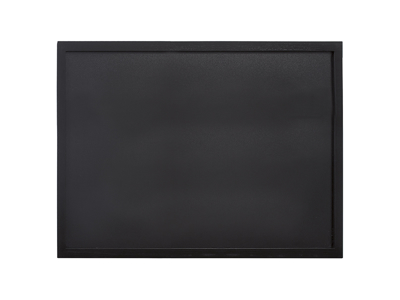 Tavle 60x80 cm sort lakeret træ ramme
