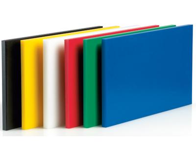 Skærebræt polyd Blå 40x25x2 cm m/dup
