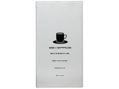 Menukort drinks hvid 1 opslag/4 side Tre
