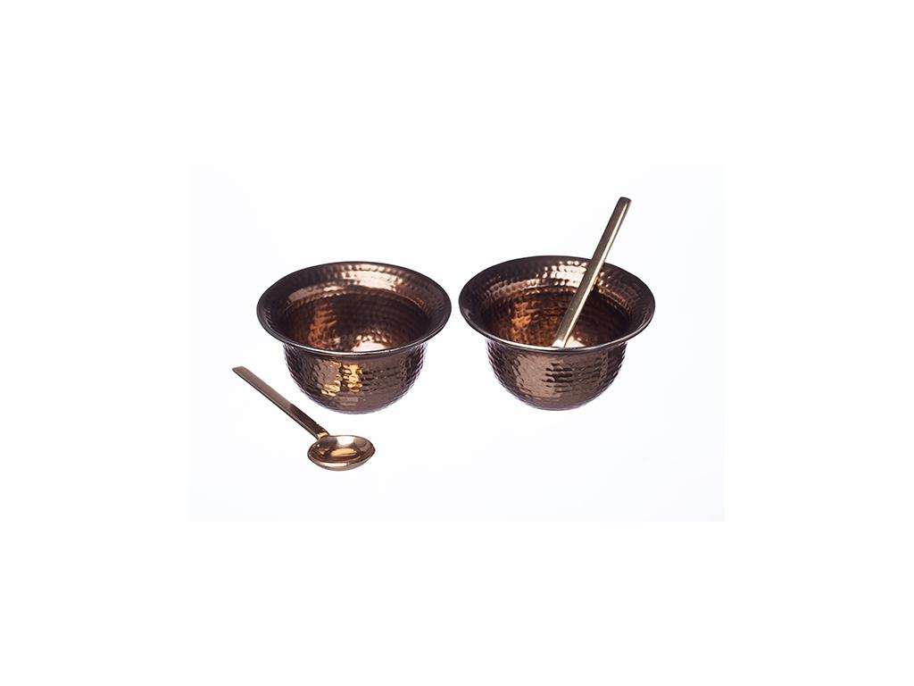 Serveringsskåle i kobber
