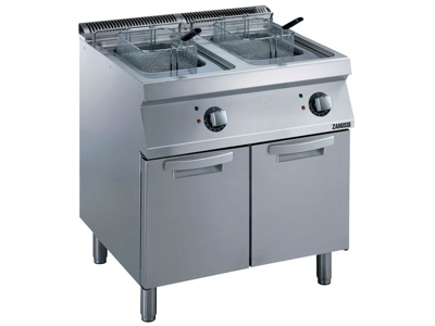 Friture 2x7 ltr m/skab el 800 mm 70
