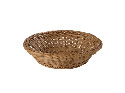 Brødkurv rund, Ø:29cm H:7cm brun - APS