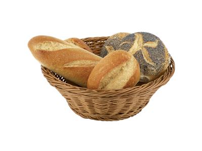Brödkorg, naturfärgad, av polypropylen, rund