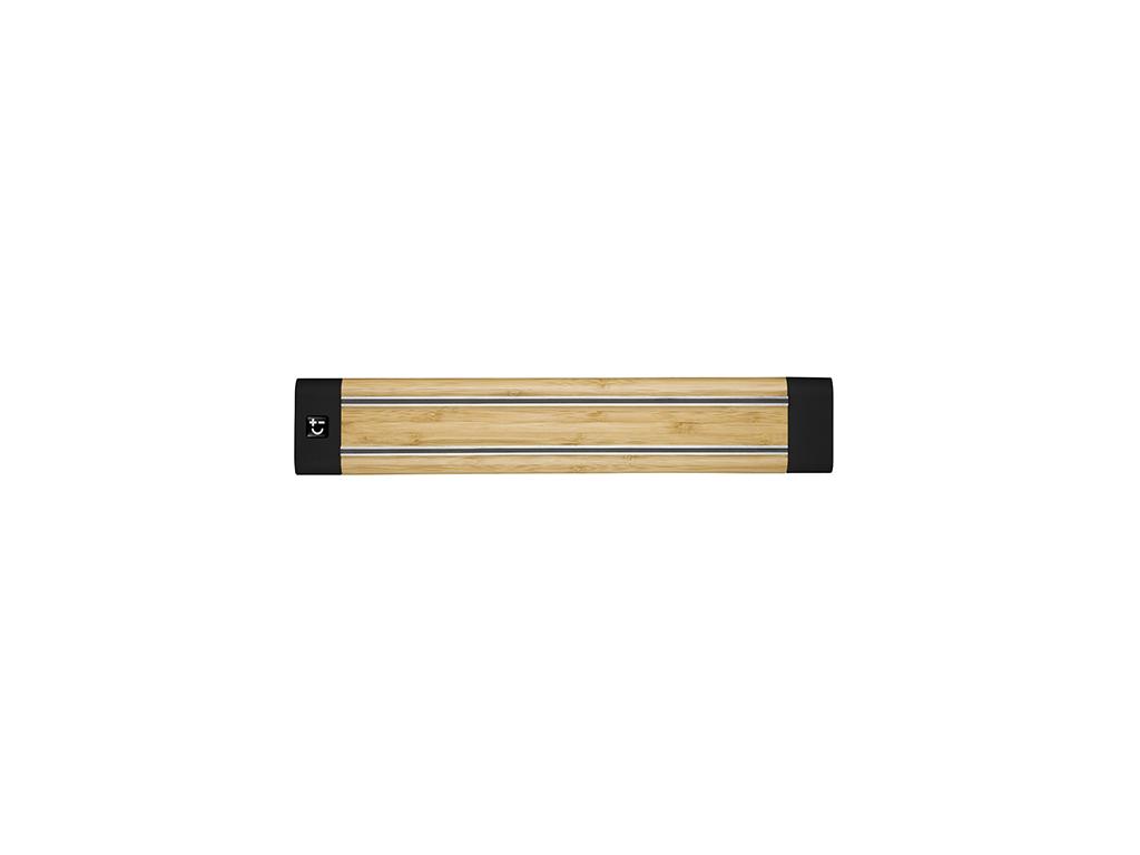 Knivmagnet 360 mm Bambus - med sorte kanter
