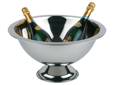 Champagneskål, högglanspolerad, kant satinpolerad