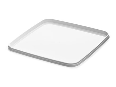 Lid for container white plastic for use with item no. 22