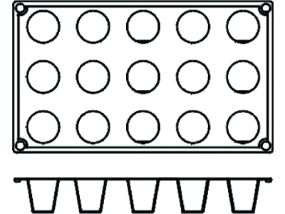 Bageform Silicone 1/3 GN, 15 kegler