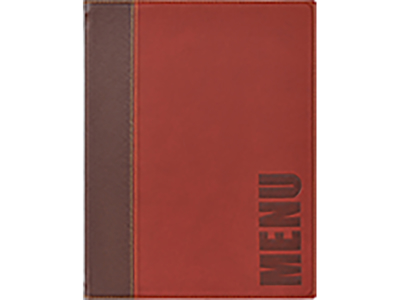 Wine red Menu cover A5
