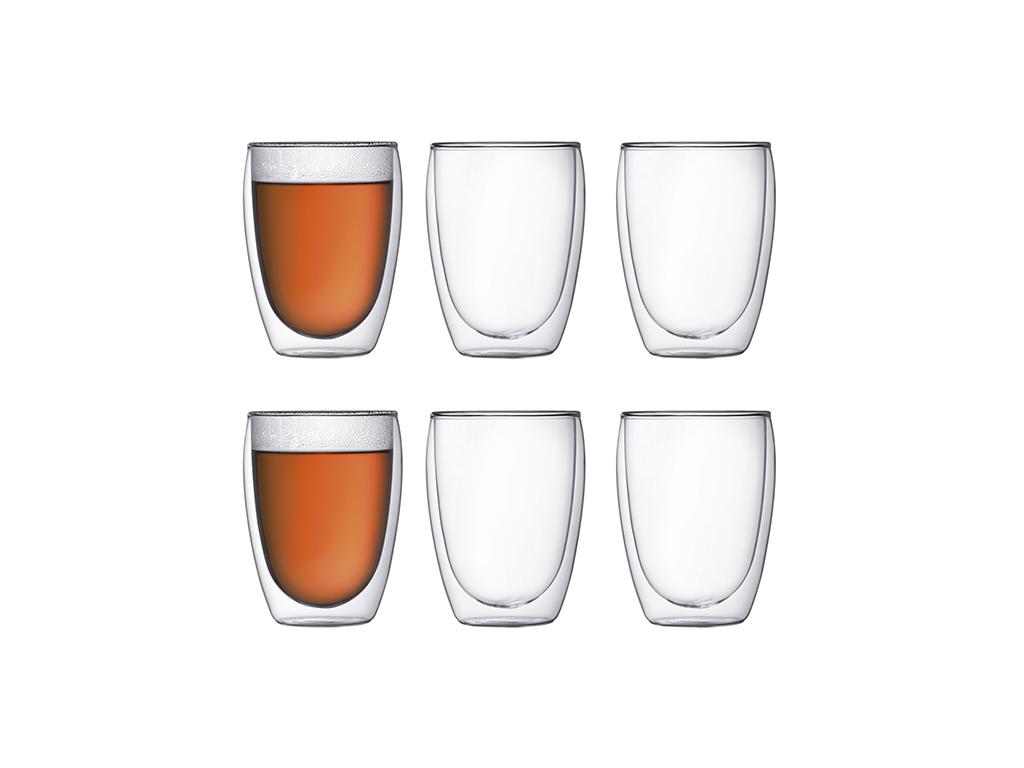 Pavina dobb.væg glas 0,35 l Bodum 6.stk