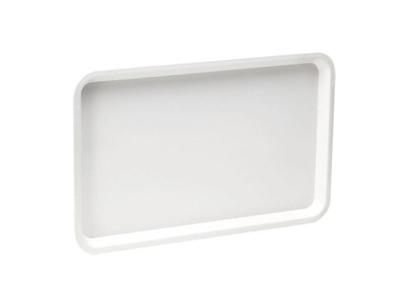 Plastbricka, vit