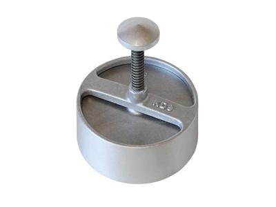 Prensa de hamburguesa  15 cm  aluminio
