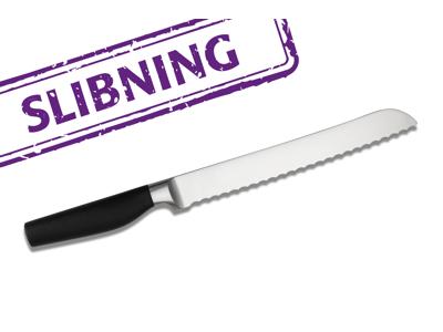 Håndkniv slebet Bølgekniv