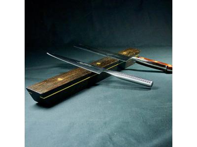 Knivmagnet 4 knive 40x4x4 cm Røget Eg