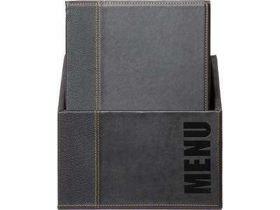 Menukort Box 20 stk A4 sort Trendy