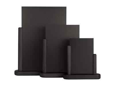 Tavle 28x32 cm A4 m/sort træ fod bord