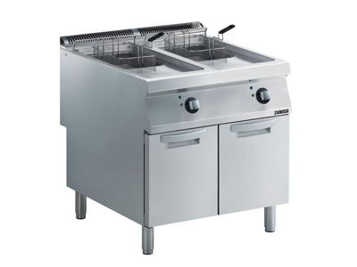 Friture 2x15 ltr m/skab el  800 mm 900