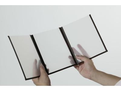 Menuholder A4 transperant/brun 6 sider
