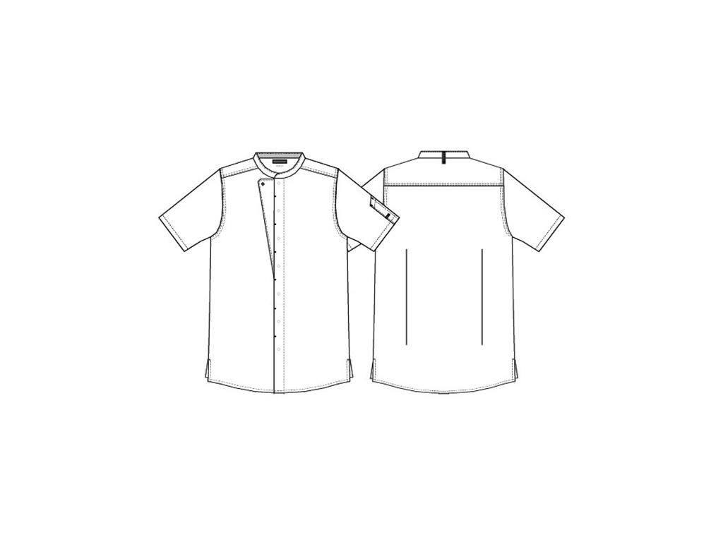 Kentaur Kokkejakke Unisex Hvid m/kort ærm