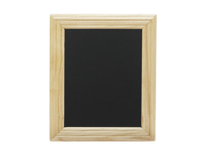Board with light wood frame
