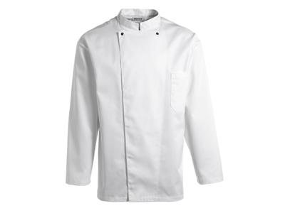 Chaqueta de cocina blanca con botones de presión M