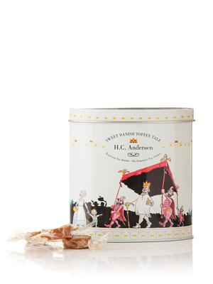 H.C. Andersen, Kejserens Nye Klæder - 140g karameller i smuk dåse