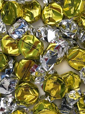 Bling Bling, gul - karameller i 5kg bulk