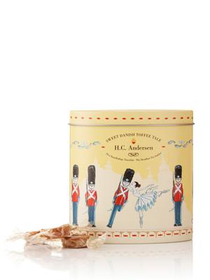 H.C. Andersen, Den Standhaftige Tinsoldat - 140g karameller i smuk dåse