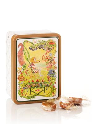 Blomster - 125g karameller i smuk dåse