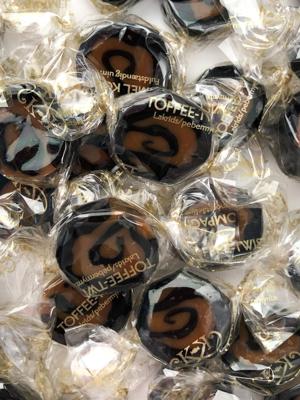 Toffee-Twist, Lakrids & Pebermynte - 100g karameller