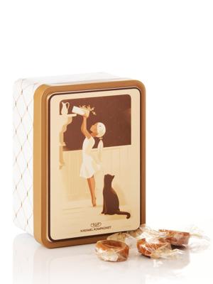 Katpige - 125g karameller i smuk dåse