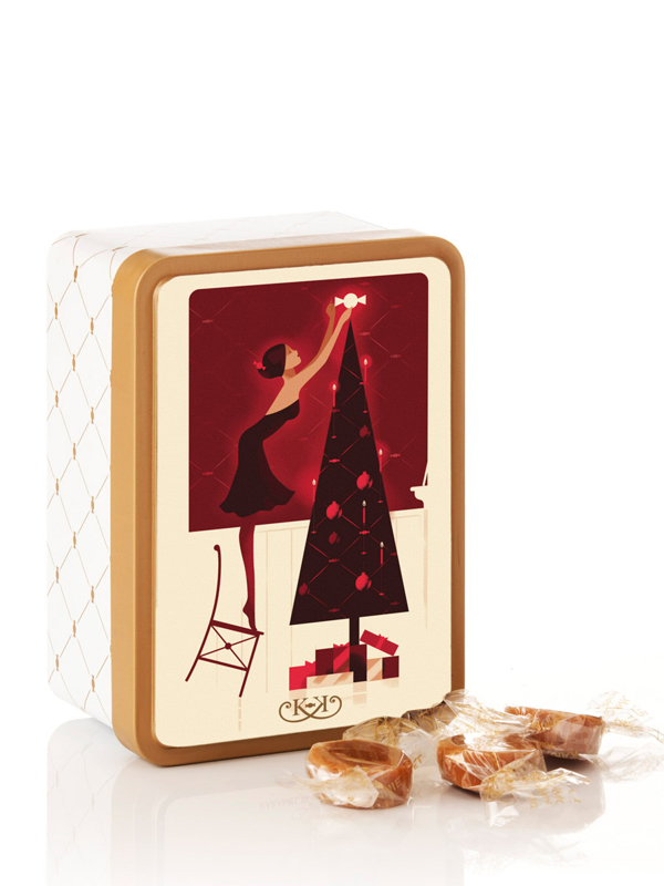 Juledag - 125g julekarameller i smuk dåse