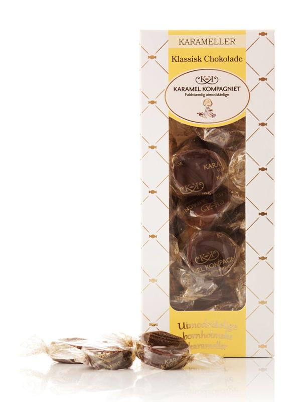 Klassisk Chokolade - 100g karameller