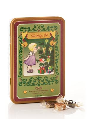Glædelig jul, pige - 330g karamelblanding i smuk dåse