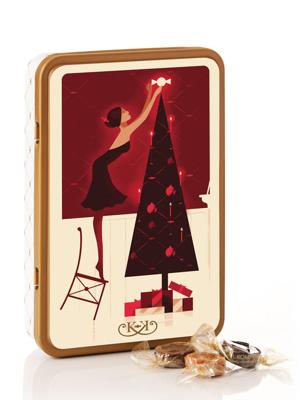 Juledag - 330g karamelblanding i smuk dåse
