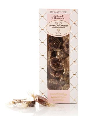 Chokolade & Hasselnød - 100g karameller