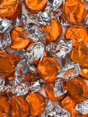 Bling Bling, orange - karameller i 5kg bulk