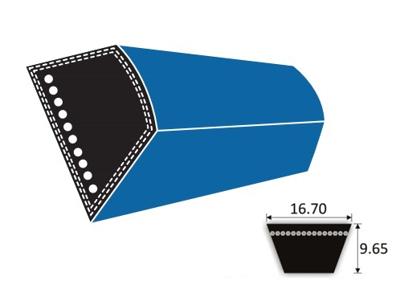 Forstærket rem 5L - profil B